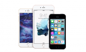 Variety of iPhones